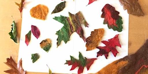Felted Autumn Leaf Garland