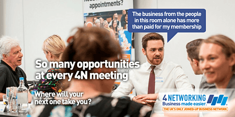 4N Business Networking Lunch Glasgow City Centre 20th March 2020 tickets