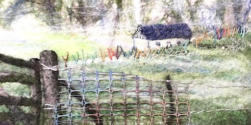 Embellish your Felted landscape Picture workshop