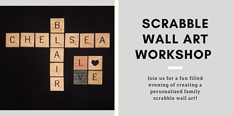 Scrabble Saturday  - Make your own family wall hanging tickets
