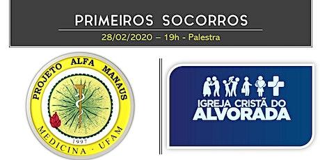 PRIMEIROS SOCORROS (Conteúdo e Prática) ingressos
