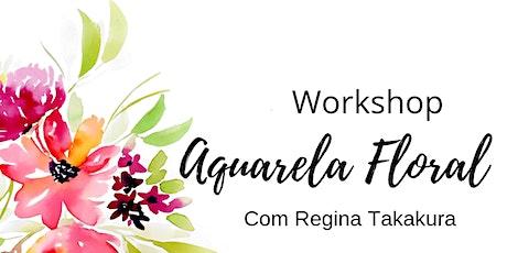Workshop de Aquarela Floral - São Paulo ingressos