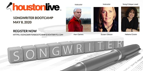 HoustonLive™ Songwriter Bootcamp 2020 and Songwriter Showcase tickets