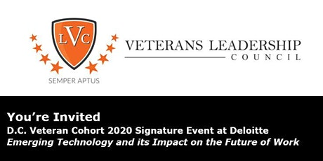 D.C. Veteran Cohort Signature  Event at Deloitte tickets
