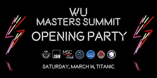 Masters Summit Opening Party