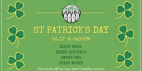 St. Patrick's Day Party at 7 Locks Brewing tickets