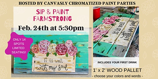 Spring Wood Pallet: Sip & Paint @ Farmstrong