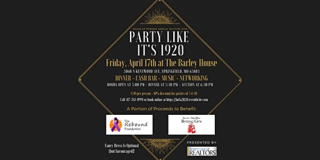 Party Like It's 1920 - House of Friends Auction tickets