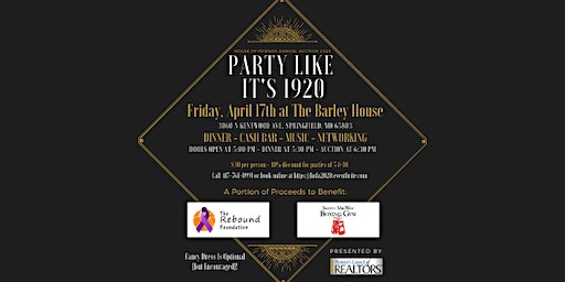 Party Like It's 1920 - House of Friends Auction