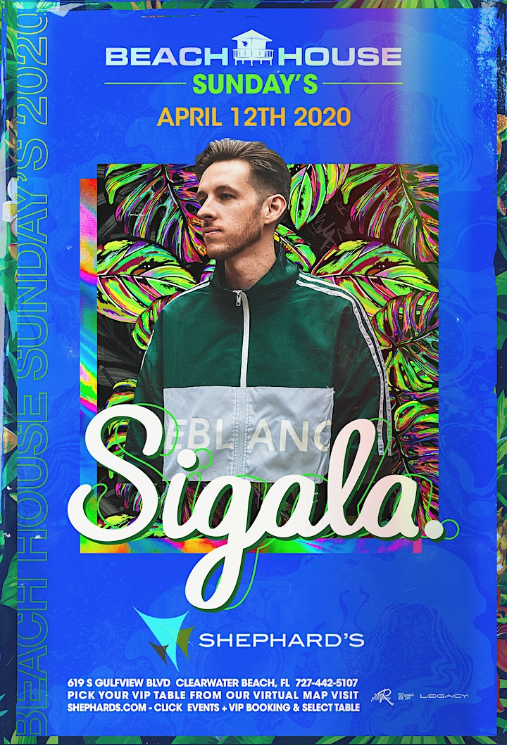 Sigala at Beach House Sundays 2020 image