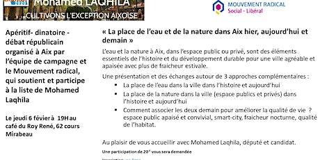 «La place de l'eau et de la nature dans Aix hier, aujourd'hui et demain»  billets