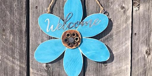 DIY Flower Welcome Sign