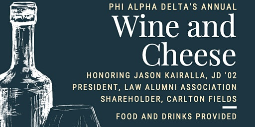 Annual Wine and Cheese Reception
