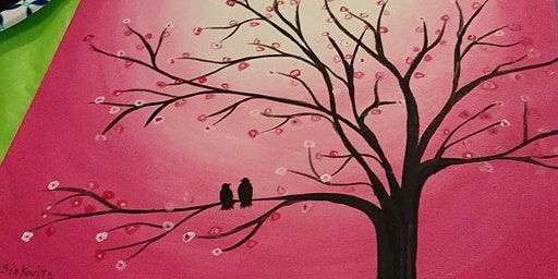 Sip and Paint:Valentine's Theme
