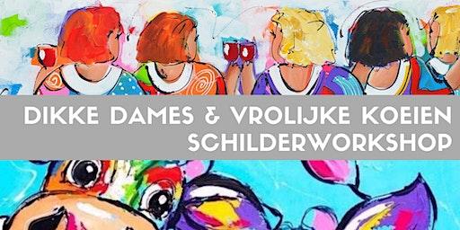 Dikke Dames / Vrolijke Koeien schilderworkshop