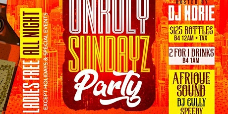 UNRULY SUNDAYZ AT BLEND LOUNGE tickets