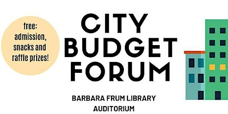 City Budget Forum - Community Meeting tickets