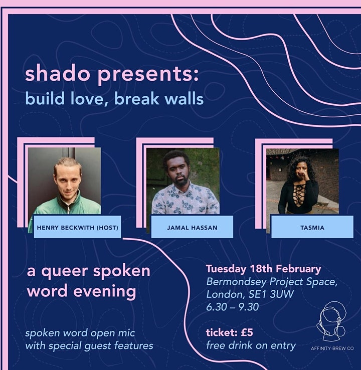 Build Love, Break Walls: a queer spoken word evening image
