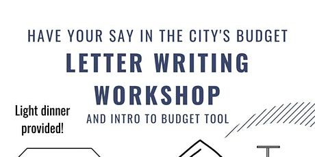 Letter Writing Workshop - Influence the City Budget tickets
