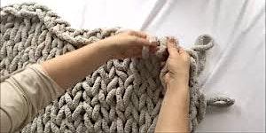 Wine & Weaving: Chunky Knit Blanket