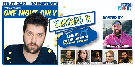TSFGO Presents: ONE NIGHT ONLY : VANDAD K LIVE AT BLUE DOG tickets