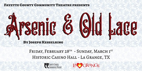 FCCT Presents:  Arsenic and Old Lace tickets