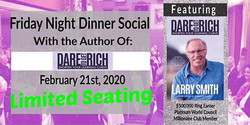 Friday Night Dinner Social & Book Signing