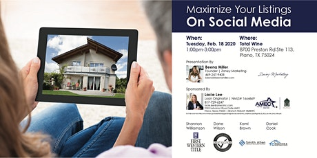 Maximize Your Listings On Social Media tickets