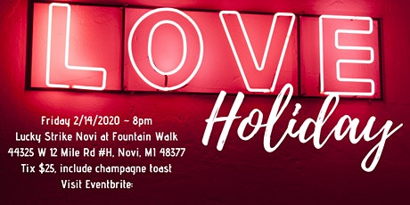 """Valentine's Day """"A Love's Holiday"""" a celebration of love through live jazz tickets"""