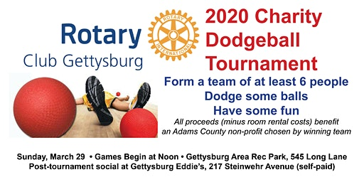 Rotary Club of Gettysburg Dodgeball Tournament