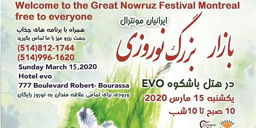 Welcome to the Great Nowruz Festival - Montreal free to everyone