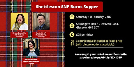 Shettleston SNP Burns Supper tickets
