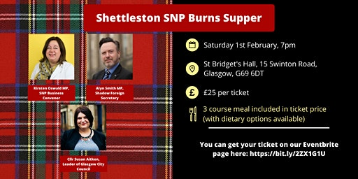 Shettleston SNP Burns Supper