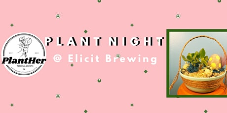 Create Your Own Spring Basket Planter: PlantHer Plant Night @ Elicit! tickets