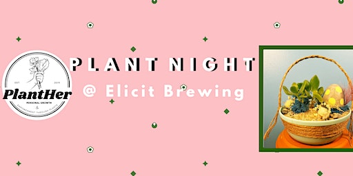 Create Your Own Spring Basket Planter: PlantHer Plant Night @ Elicit!