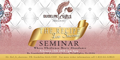 The RECIPE FOR SUCCESS SEMINAR tickets