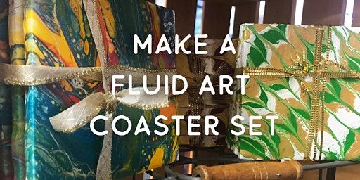 Make a Fluid Art Coaster Set