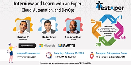 Testoper Meetup Feb 15, 2020 (Cloud, Automation, and DevOps) tickets