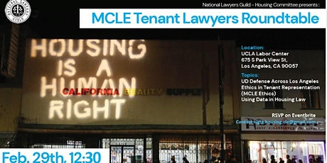 NLG Housing Committee MCLE - Tenant Lawyer Roundtable tickets