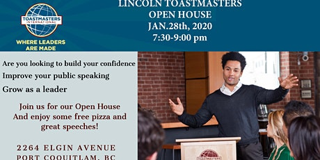 Lincoln Toastmasters OPEN HOUSE  January 28, 2020 tickets