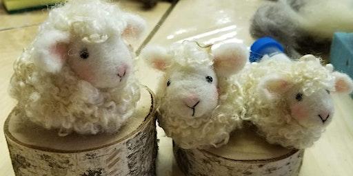 Beginner Needle Felted Lamb