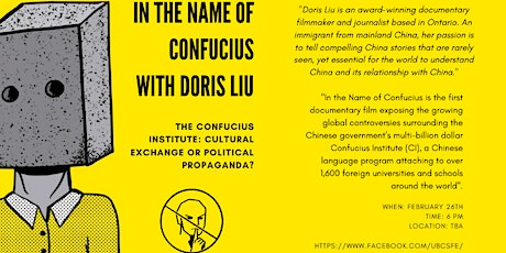 The Confucius Institute: Cultural Exchange or Political Propaganda? tickets
