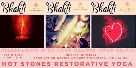 Celebrating with love pampering your senses! Mini Urban Retreat with Hot Stones Restorative Yoga tickets