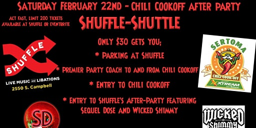 Shuffle Shuttle to Chili Cookoff