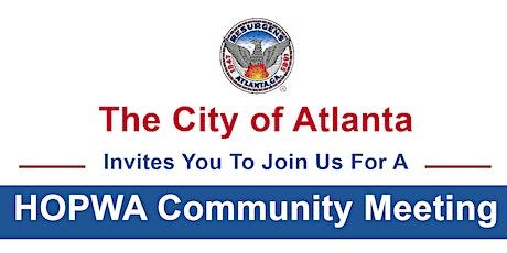 City of Atlanta HOPWA Community Meeting tickets