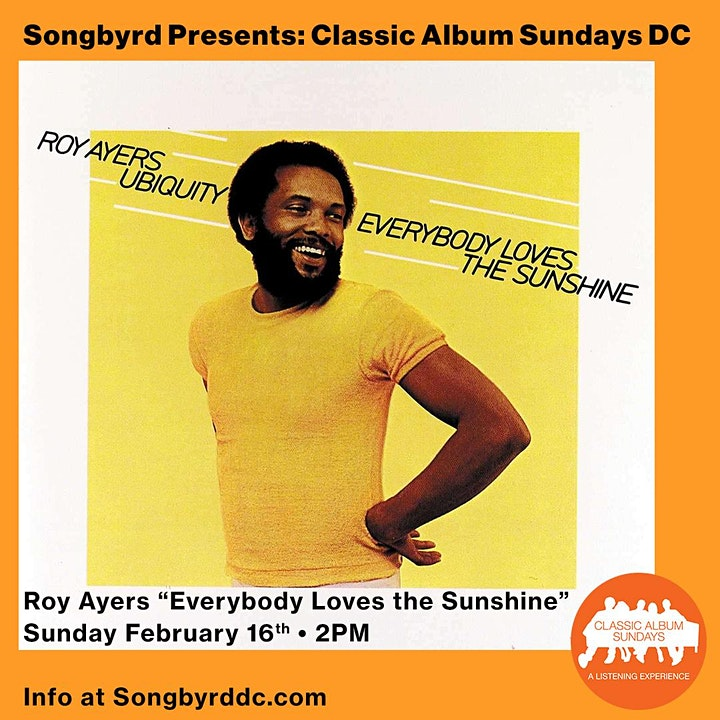 "Classic Album Sundays D.C.: Roy Ayers ""Everybody Loves the Sunshine"" image"