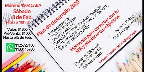 Plan de Desarrollo 2020 entradas