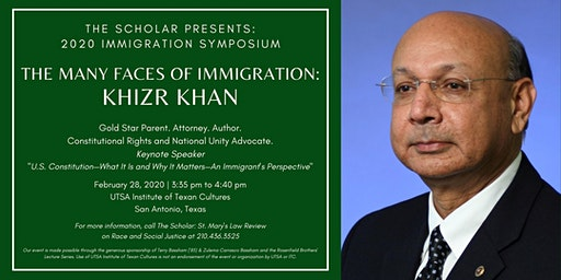 Gold Star Father Khizr Khan at 2020 Immigration Symposium