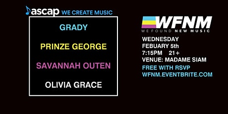 WFNM & ASCAP | GRADY, PRINZE GEORGE, SAVANNAH OUTEN, MORE TO COME tickets