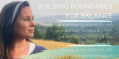 Building Boundaries for Balance Workshop tickets